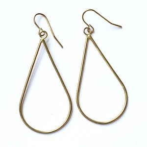 Dangle gold hoop earrings